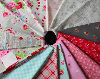 fat quarter bundle FOG City Kitty by Pam Kitty Morning for Lakehouse drygoods 15 gorgeous prints