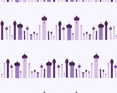 1001 Peeps Towers purple Lizzy House Andover fabrics FQ or two