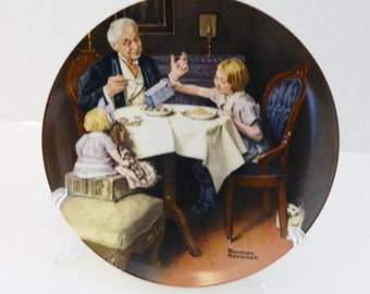 The Gourmet Ninth Plate Norman Rockwell Heritage Collection No COA Box l985