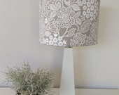 Lamp Shade Beige and White