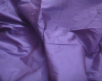 dupioni silk fabric - violet blue - 1 yard - sld155