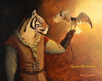 "Tiger falconry - ""Leander""- 5x7"" print"