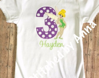 Tinkerbell Birthday Shirt*****Please Read Shop Announcement*****