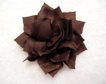 3 Inch Lotus Flower Dark Brown