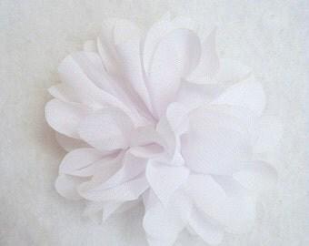 2.5 Inch Chiffon Flower White