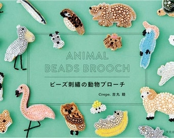 Animal Beads embroidery Brooch   Pattern Book Japanese
