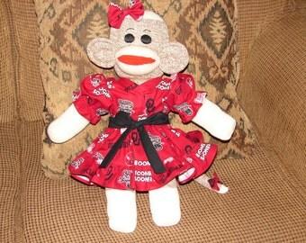 University of Oklahoma Sock Monkey, Red Heel Sock Monkey, OU Sock Monkey, Sock Monkey