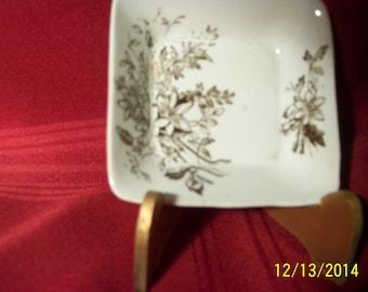 Stoneware bowl & butter pat