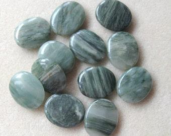 Green Line Jasper Oval Pendants, Gemstone Pendants, Jasper Pendants, Natural Jasper, Pendant Bead, Jewelry Making Beads, Craft Supply