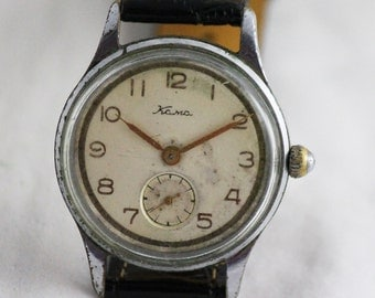 KAMA Very RARE Vintage Military SERViCED watch 17 Jewels from 1950's Chistopol Factory made in USSR