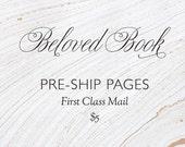 Custom Beloved Book pages preship