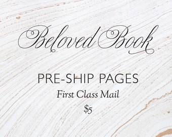 Custom Beloved Book pages preship