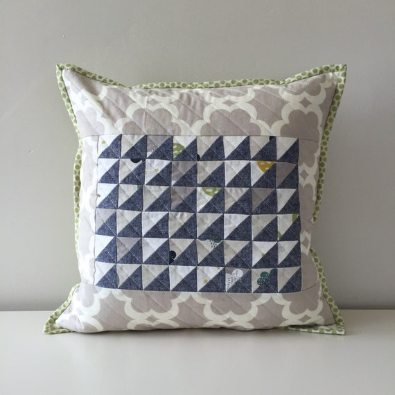 Decorative Quilted Pillow Covers : Quilted Throw Pillow Cover Decorative Accent Pillow