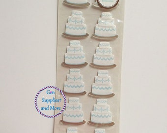 12pcs Martha Stewart Cake Stickers - wedding