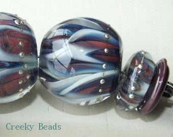 """Handmade Lampwork beads """"Autumns approach"""" - Creeky Beads SR"""