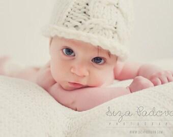White newborn hospital hat Organic Wool Baby Beanie Photo prop Knit baby hat Little elf Alpaca baby hat Bio hat newborn Photography Prop