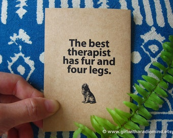 Dog Notebook 59 - Mini Pocket Traveler's Journal Diary - The Best Therapist has fur and four legs
