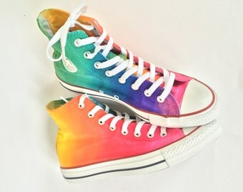 Tie Dye Rainbow Converse High Top Shoes