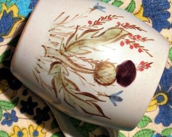 Buchan Mug handmade Scotland Portobello stoneware blue