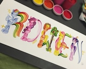 My Little Pony Name Painting (custom)