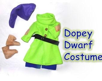 Children sizes 7 to 14 Dopey Dwarf Costume from Disney's Snow White