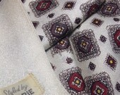 Vintage Made by Currie Scarf, Mens Burgundy, Cream, Fashion scarf