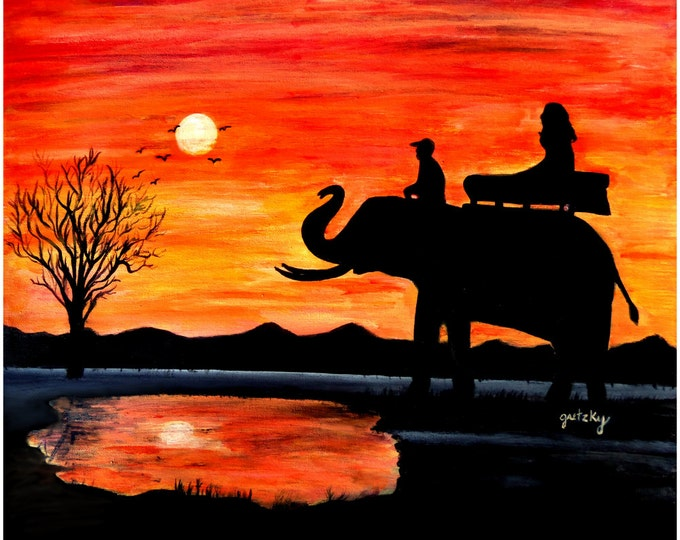 Elephant Ride Print
