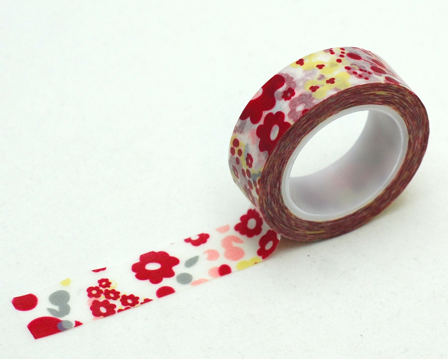 Red floral washi tape decorative tape planner by lovemytapes for Decoration tape