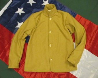 Size 40 - Civil War Confederate Wool Sack Coat - Butternut - Inner Pocket - Lined - Choice of buttons