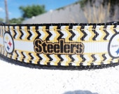 "Pittsburgh Steelers Dog Collar 1"" width Side Release buckle or Martingale collar style -NFL"