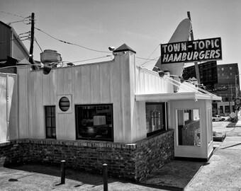 Kansas City Town Topic Hamburgers Diner  - Fine Art Photograph Cafe Vintage Historic