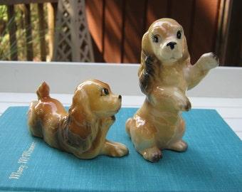 Cocker Spaniel Salt and Pepper Shakers - Dog Puppy - Oak Hill Vintage