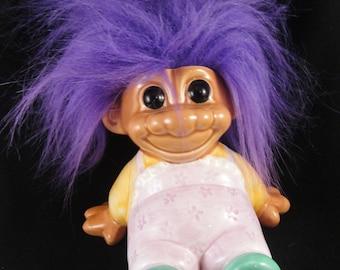 Troll Purple Hair Piggy Bank Russ