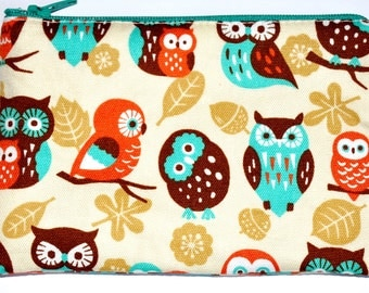 Owl Coin Purse Zipper Pouch