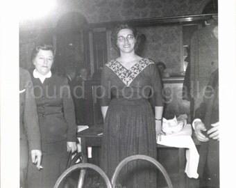 Vintage Photo, Woman in Party Dress, Restaurant, Black & White Photo, Found Photo, Vernacular Photo, Snapshot, 1940's Photo