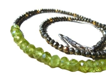 Peridot and Pyrite Simple Elegance Necklace