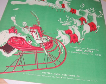 Here Comes Santa Claus Sheet music by Gene Autry