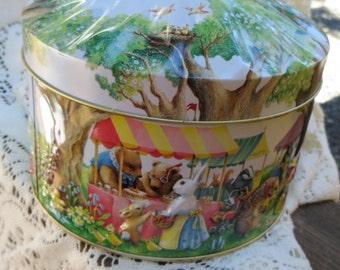 Churchill's Woodland Fair Toffee Tin Country Fair Design Adorable Vintage