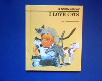 I Love Cats, a Vintage Children's Book