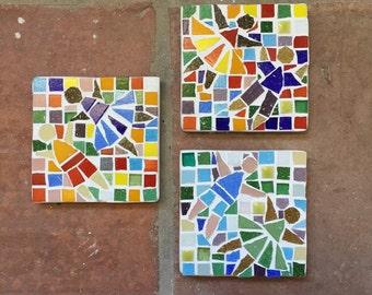 Dancing children garden mosaic