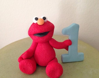 Custom Elmo Birthday Cake Topper Handmade