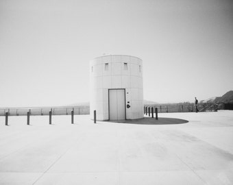 Architecture Photography, Black and White Print, White, Round, Minimalistic, Wall Decor, Fine Art Print