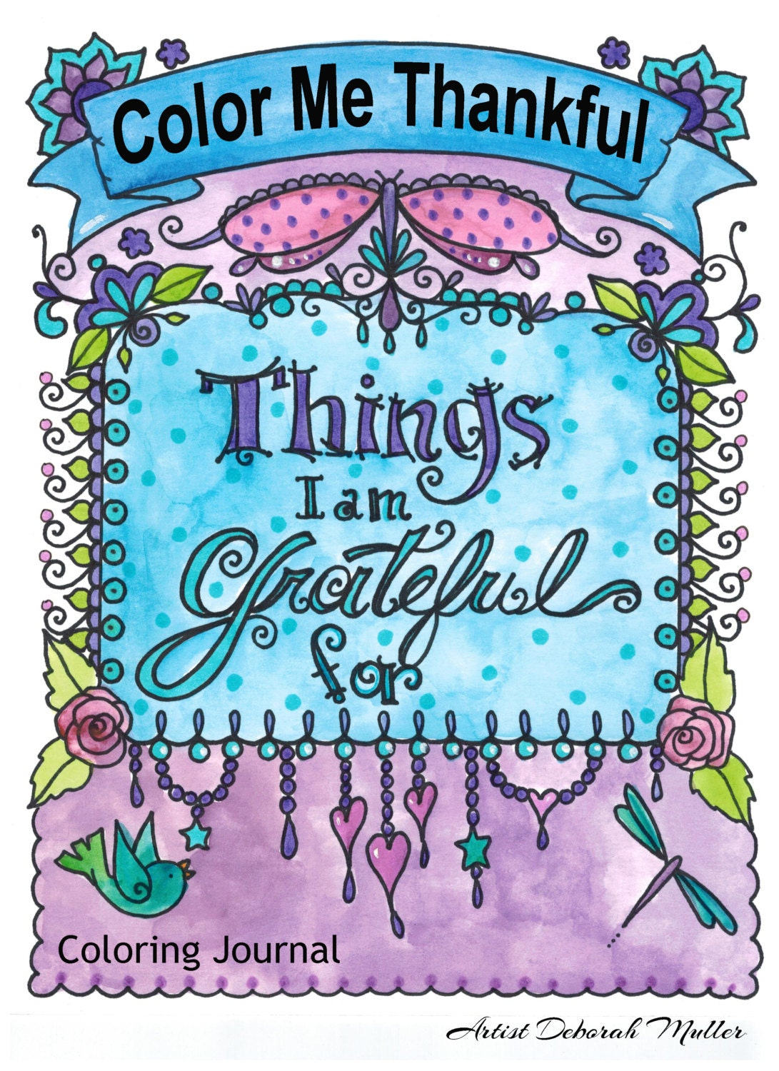 Gratitude Journal And Coloring Book Write And By Chubbymermaid