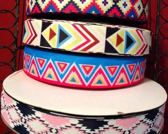 "Aztec Tribal 7/8"" Grosgrain Ribbon"
