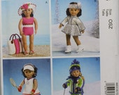 "McCalls m6938 18"" Doll Clothes Bathing Suit Ski Tennis Ice Skating Outfit  China Linda Carr American Girl  Craft Uncut Sewing Sew Pattern"