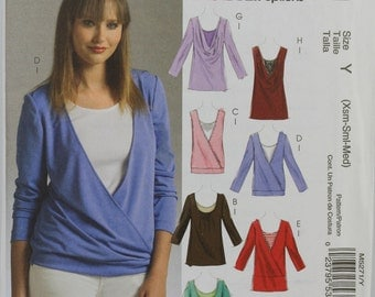 Size 4 6 8 10 12 14 McCalls M5271 Casual Easy Top Shirt Blouse Women Misses Uncut Sew Sewing Pattern