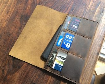 iPhone 6s plus wallet, Phone card case, Leather cell phone wallet, Leather card holder, Wallet iPhone 6 plus, Credit card case wallet