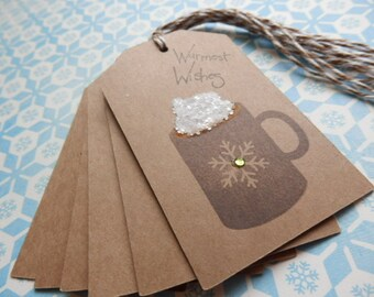 Coffee - Cocoa - Warmest Wishes Tags (8)
