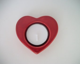 Red Heart Candle Holder for Wedding Table, Valentine Gift, Wedding Gift, Anniversary Gift, Heart Candleholder, Wedding Decor, Ready to Ship