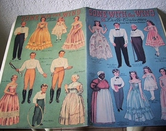 Paper Doll: Gone With the Wind Paper Doll Booklet, Uncut, 1990 reprint of original 1940 issue.